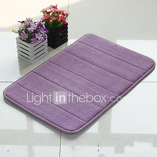 Bath Mat Memory Foam Stripe Pattern 16x24 Quot Purple 857516