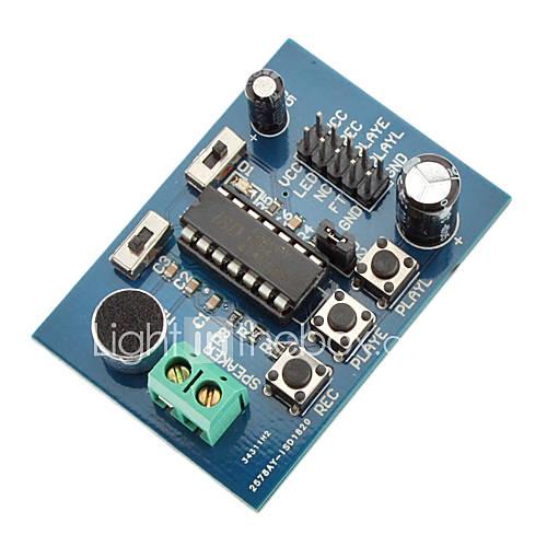 ISD1820 Sound / Grabación de voz y placa Módulo de Reproducción (3 ~ 5 V) Descuento en Lightinthebox
