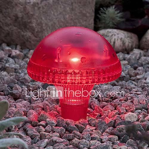 1PCS White LED Solar Garden Light Lawn Light In Mushroom