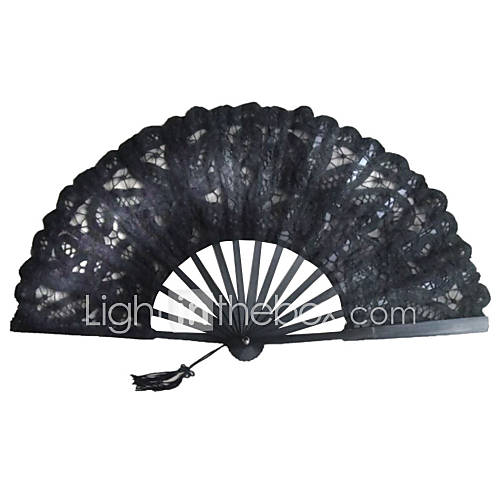 Black Lace Hand Fan Wedding Favors Classic Them Chic  Modern