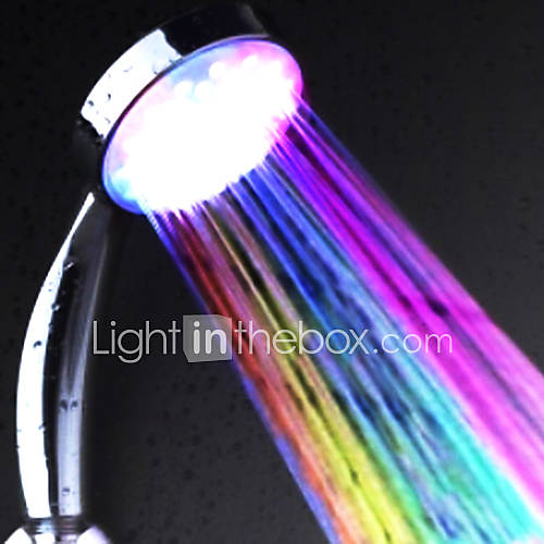 Water Powered cambia de color ABS LED ducha de la mano Descuento en Lightinthebox