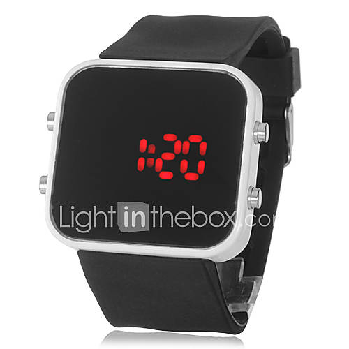 Montre LED Sportive, en Silicone, Unisexe - Noir