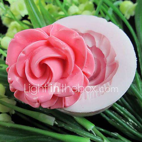 un agujero de flores de resina herramientas artesanales moldes fondant molde de silicona flor de azúcar molde para pasteles Descuento en Lightinthebox
