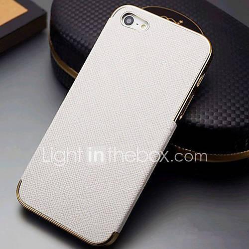 Case Retour Joyland Metal Coating bord PU en cuir pour iPhone 5/5S (couleurs assorties)