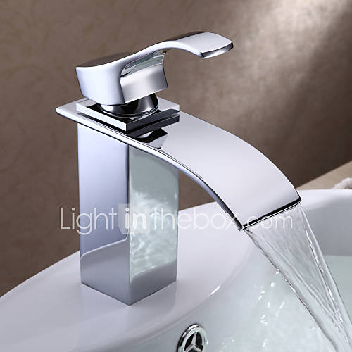contemporary centerset waterfall with ceramic valve single