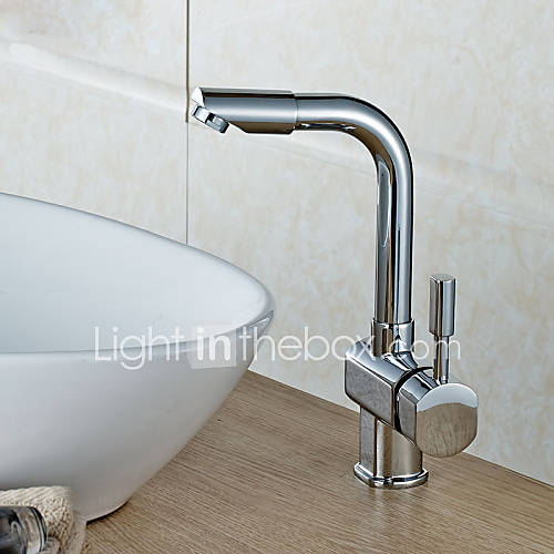Single Hole Vessel Sink Faucet : Vessel Single Handle One Hole in Ti-PVD Bathroom Sink Faucet 974164 ...