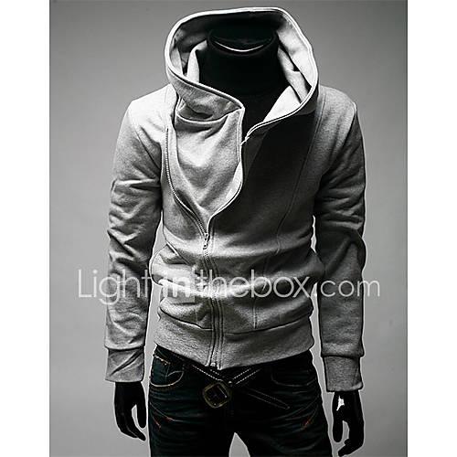 manwear-oblique-zipper-hoodies-dos-homens-cinza-claro