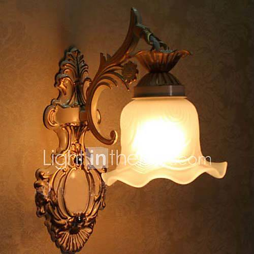 Wall Light Metal Box : Bathroom Wall Light,1 Light, Classic Metal Glass Painting 983678 2016 USD 89.99