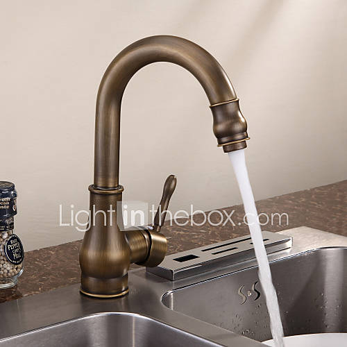 Personalized Kitchen Faucet Antique Brass Finish Deck