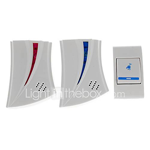 Mini Home Security numérique sans fil sonnette électronique avec 36 Melody Music-Blanc