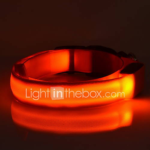Fluorescent Light Glowing Red: Dog Collar LED Lights / Fluorescent Solid Red / Green