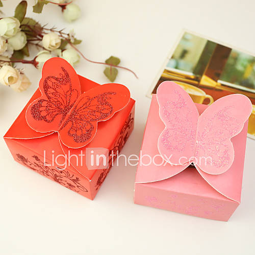 Butterfly Themed Favor Boxes : Piece set favor holder cuboid card paper boxes