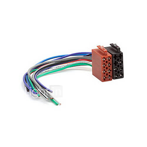 Universal Male ISO Radio Wire Wiring Harness Adapter Connector ... on antenna for radio, power cords for radio, power supply for radio,