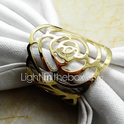 Dorado / Plateado Metal Anillo de Servilletas Lightinthebox