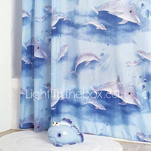 Rideau de douche moderne dauphin impression w71 x l78 de for Rideau de douche moderne