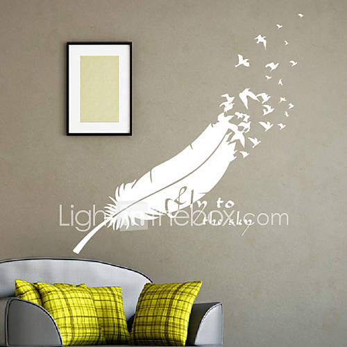 Still life feather decorative wall stickers 1030338 2016 - Stickers muraux cdiscount ...