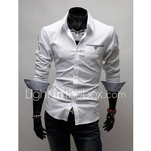 T-shirts grille fine Patch manches longues pour les hommes
