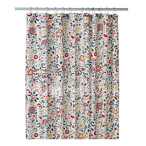 Rideau de douche moderne de mod le de fleur color for Rideau de douche moderne