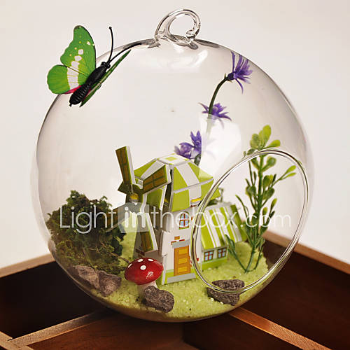 Table centerpieces round glass vase terrarium manor