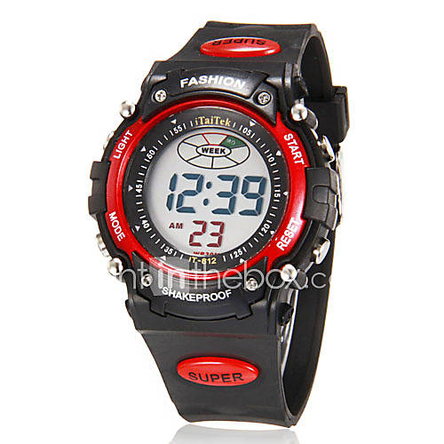 men s multi functional digital lcd rubber band