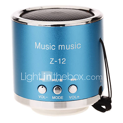 Z-12 Mini Altavoz redondeado de la ayuda TF / SD / USB / Radio FM (Azul) Descuento en Lightinthebox