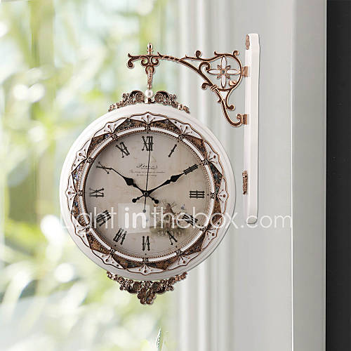 """17.75""""H Modern Style White Wall Hanging Type Wall Clock ..."""