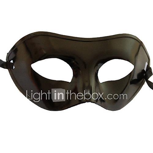 Máscara Cosplay Festival/Celebración Traje de Halloween Negro Un Color Máscara Halloween / Carnaval / Año Nuevo Unisex PVC Descuento en Lightinthebox