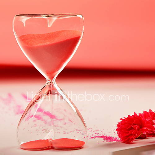 Table centerpieces minutes hourglass with red sand