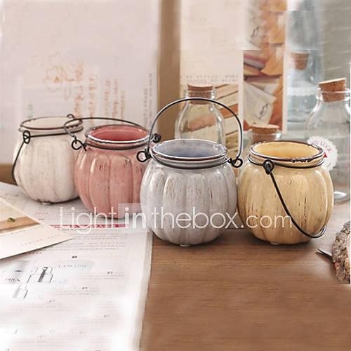 Centros de mesa calabaza deocrations mesa vaso florero - Vaso con agua ...