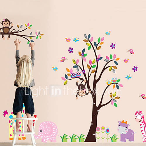 quarto jardim zoologico : quarto jardim zoologico:Monkey Wall Decals for Nursery