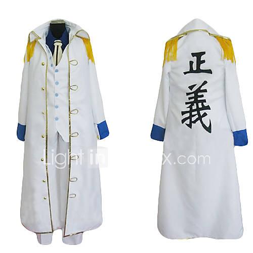 One Piece amiral manteau Aokiji Kuzan cosplay costume marin