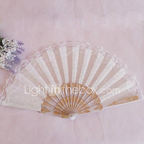 Dentelle Ventilateurs et parasols Pi??ce / Set Eventail Th??me floral 42cmx23cmx1cm