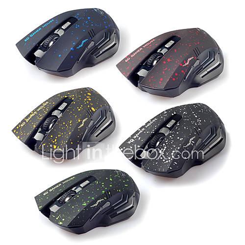 2.4G sans fil Super Dazzle LED souris optique de jeu (couleurs assorties)