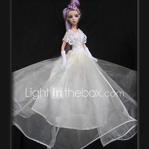 Barbie Doll Ivory Lace Gorgrous abito da sposa - USD $ 9.99