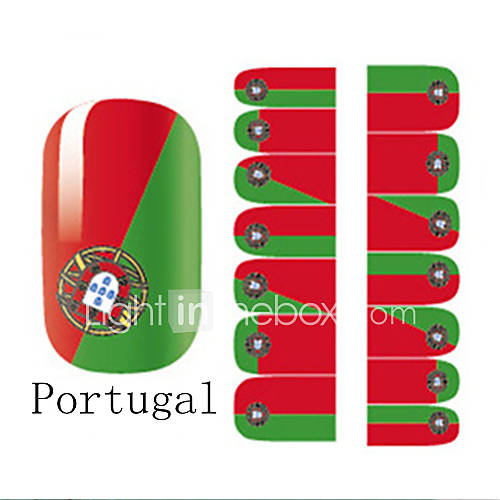 World Cup Pattern Nail Art