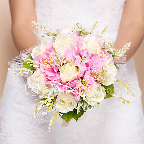 Cost Of Wedding Flowers 2017 : Wedding flowers round roses bouquets silk pink