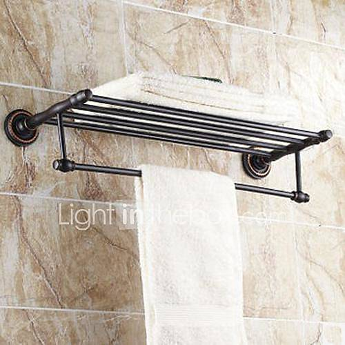 Towel bar bathroom shelf oil rubbed bronze wall mounted - Oil rubbed bronze towel bars for bathrooms ...