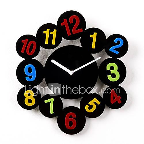 12 h figuras de dibujos animados de acr lico del reloj de - Relojes de pared retro ...