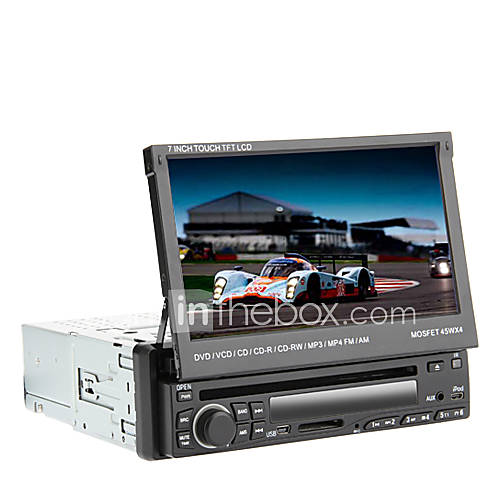 "7"" 1Din LCD Touch Screen Digital Panel Car DVD Player"