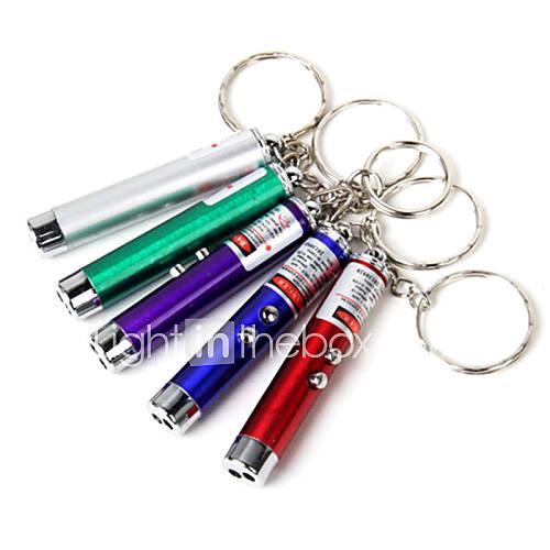 En alliage d'aluminium Key Boucle Infrarouge Style lampe de poche LED Portable (couleur aléatoire)