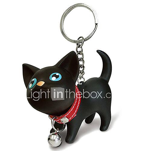 Chat noir porte-clefs