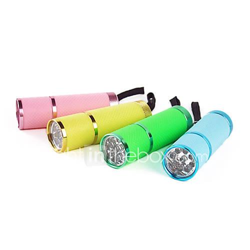 En alliage d'aluminium AAA portables étanches Tirs lointains LED Flashlight (couleur aléatoire)