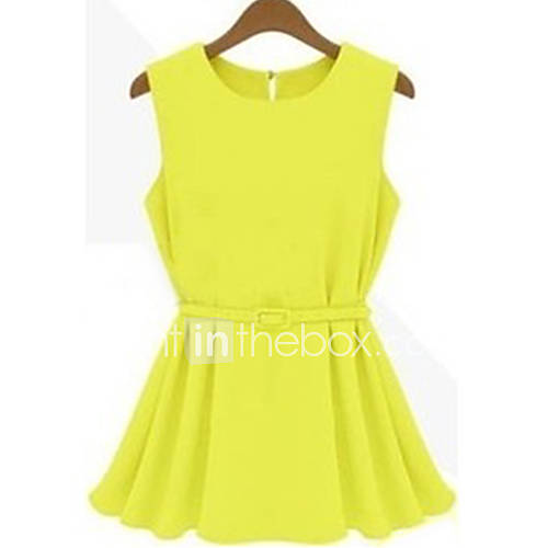 rxhx ol knit chiffon pleated above knee dress