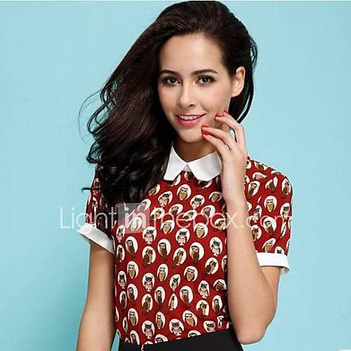 Womens Fashion Short Sleeve Shirt
