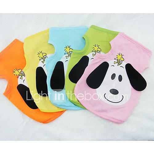 cachorro-camiseta-roupas-para-caes-desenhos-animados-laranja-amarelo-verde-azul-rosa-claro-ocasioes-especiais-para-animais-de-estimacao