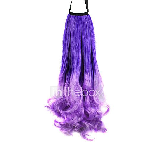 fita-amarrada-roxo-de-varias-cores-coloridas-cor-longo-encaracolado-sinteticos-rabo-de-cavalo-hair-extensions