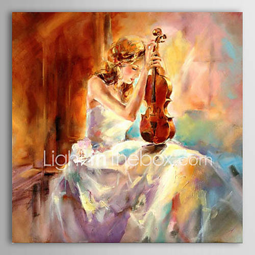 Hand-Painted PeopleClassic One Panel Canvas Oil Painting ...