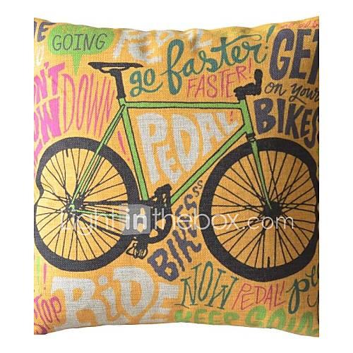 Graffiti fiets decoratie kussen met insert 1357645 2016 - Decoratie geel ...