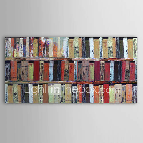 Hand Painted Abstract One Panel Canvas Oil Painting For