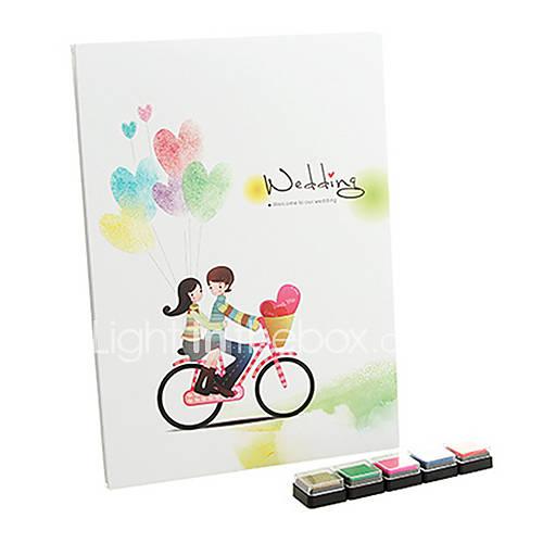 pure love signature livre d 39 or empreinte digitale avec 5 couleurs inkpad de 1332036 2016. Black Bedroom Furniture Sets. Home Design Ideas